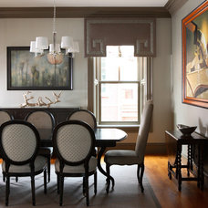Transitional Dining Room by Design Theory Interiors of California, Inc