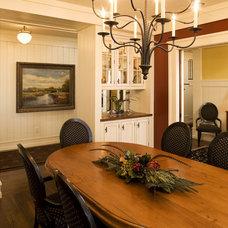 Farmhouse Dining Room by DESIGNS! - Susan Hoffman Interior Designs