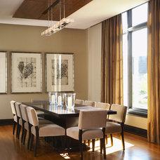 Contemporary Dining Room by Douglas Design Studio