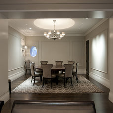 Transitional Dining Room by dSPACE Studio Ltd, AIA