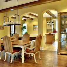 Mediterranean Dining Room by Echelon Custom Homes