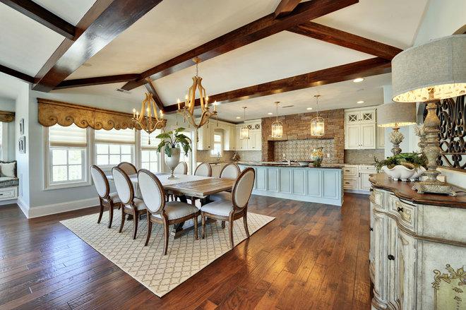 Shabby-chic Style Dining Room by Echelon Custom Homes