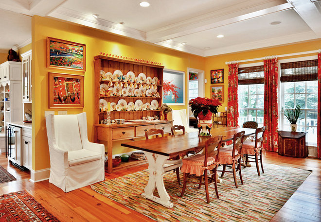Eclectic Dining Room by Echelon Custom Homes