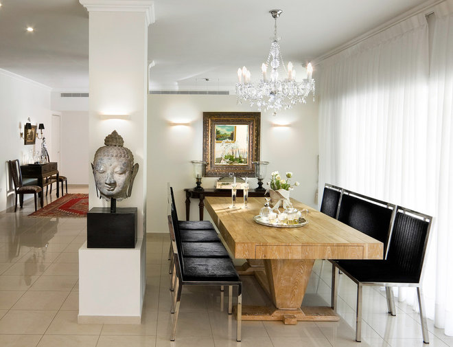 Eclectic Dining Room by Elad Gonen