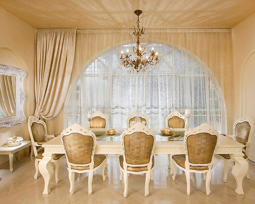 Casual Dining Room Curtains Houzz