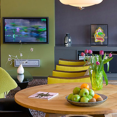 Inspiration for a contemporary great room remodel in Other