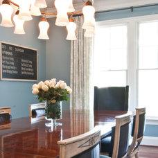 Contemporary Dining Room by Elizabeth Reich