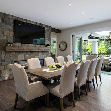 Dining Room Feature Wall – Modern Farmhouse