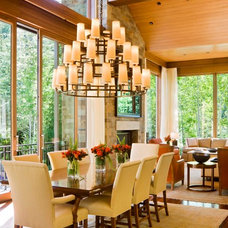 Transitional Dining Room by Forum Phi - Architecture | Interiors | Planning
