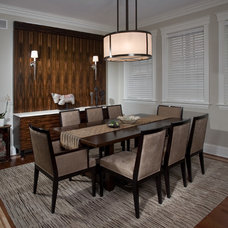 Asian Dining Room by Fredman Design Group