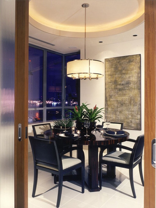 Example Of A Mid Sized Trendy Dining Room Design In Seattle