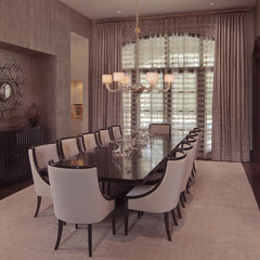 modern dining room by Garrity Design Group