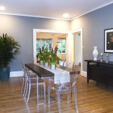 Contemporary Dining Room by Gigi Park