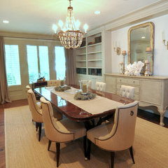 traditional dining room by Greymark Construction Company