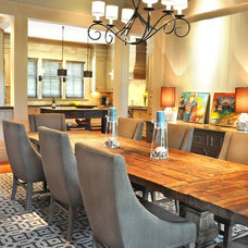 Contemporary Dining Room by Hansen Architects, P.C.