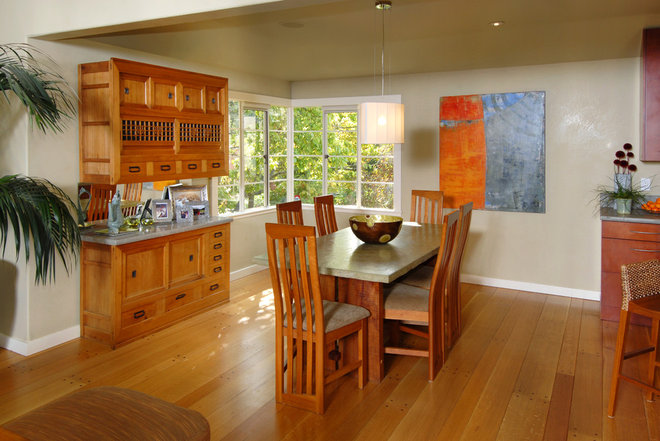 Contemporary Dining Room by Patricia Benson