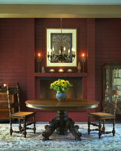 eclectic dining room by Harrell Remodeling