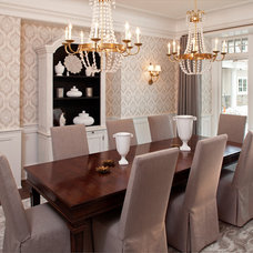Transitional Dining Room by Hendel Homes