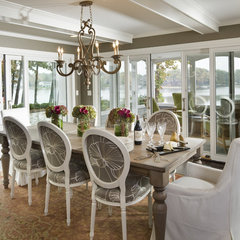 eclectic dining room by Hoskins Interior Design