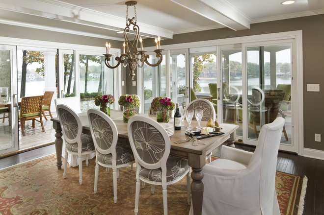 Transitional Dining Room by Hoskins Interior Design