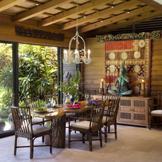 Tropical Dining Room by Ike Kligerman Barkley