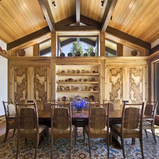 Rustic Dining Room by Ike Kligerman Barkley