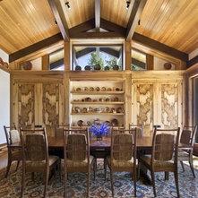 Rustic Dining Room by Ike Kligerman Barkley