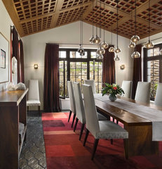 contemporary dining room by Ike Kligerman Barkley