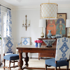 Transitional Dining Room by Jessica Walmsley Interiors