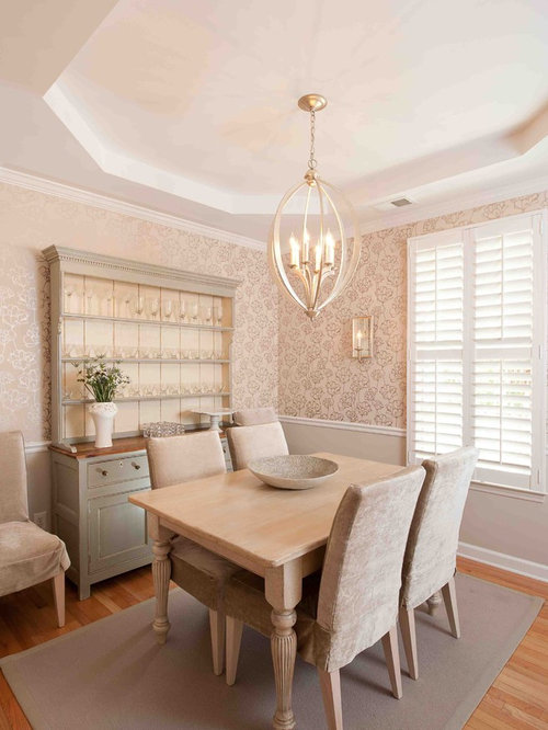 Inspiration For An Eclectic Medium Tone Wood Floor Dining Room Remodel In DC Metro