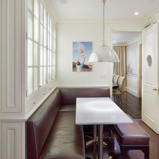 Dining room - traditional dining room idea in New York with white walls