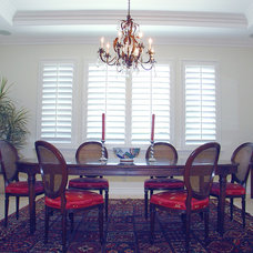 Traditional Dining Room by Belmar Window Shop