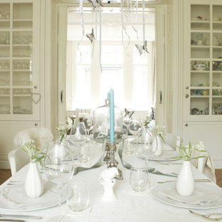 Silver And White Table Setting | Houzz