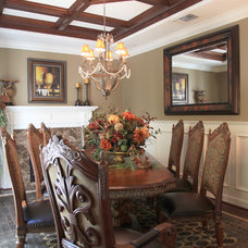 Mediterranean Dining Room by J. Hettinger Interiors