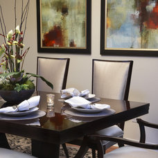 Contemporary Dining Room by Jennifer Austin-McGrath, Allied ASID