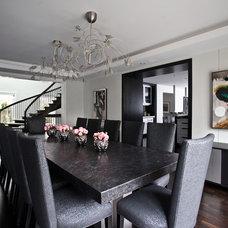 Modern Dining Room by Jodie Rosen Design
