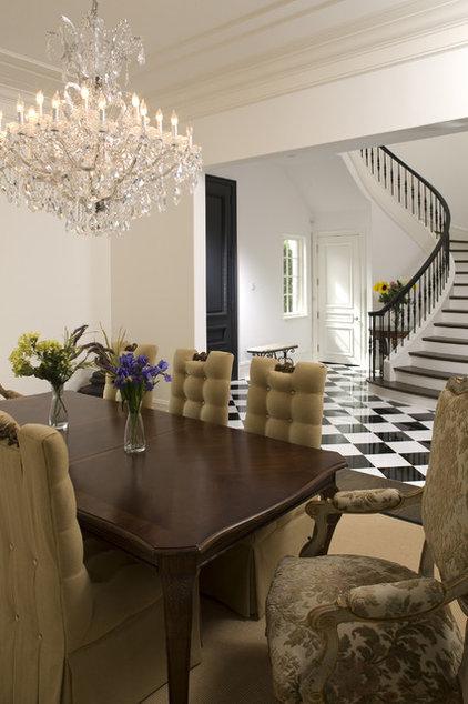 Mediterranean Dining Room by John Kraemer & Sons