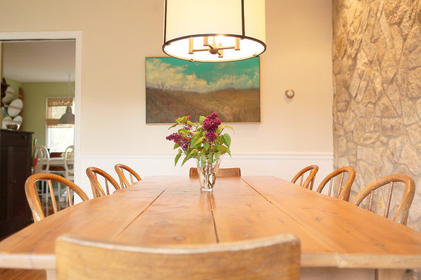 Eclectic Dining Room by Julie Ranee Photography