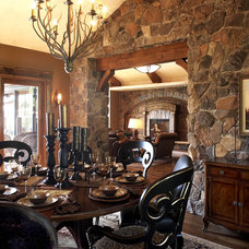 Rustic Dining Room by Karen Hodgdon, Allied ASID