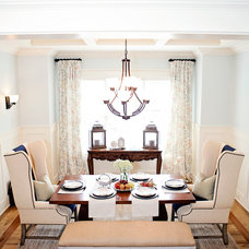 Transitional Dining Room by Kathryn Lilly Interiors