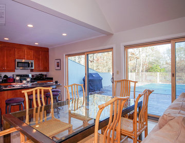 Dining Room - Kitchen - Wood-Interior Patio Doors in Quogue, NY - Long Island