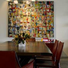 Modern Dining Room by Kristen Rivoli Interior Design