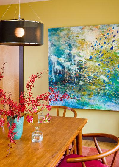 Contemporary Dining Room by Kristen Rivoli Interior Design