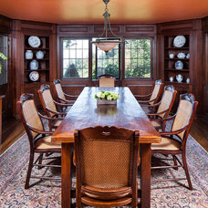 Traditional Dining Room by KuDa Photography