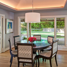 Transitional Dining Room by Holly Bender Interiors