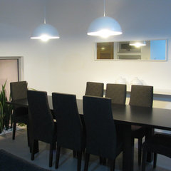 modern dining room by laura