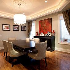 Contemporary Dining Room by Laura Warburton