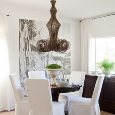Eclectic Dining Room by Lauren Liess Interiors