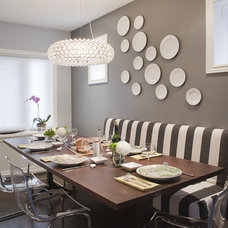 Contemporary Dining Room by Leslie Goodwin Photography