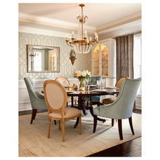 Transitional Dining Room by Leslie Williams Interior Design